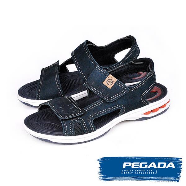 【PEGADA】巴西名品氣墊運動涼鞋  藍色(31904-NA)