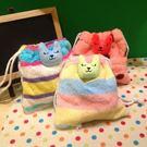【發現。好貨】梨花CRAFTHOLIC 毛絨立體束口袋 鳳梨熊/彩虹兔/墨西哥熊收納袋相機包