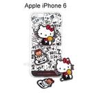 Hello Kitty 拭鏡貼透明軟殼 [塗鴉黑] iPhone 6 / 6S (4.7吋)【三麗鷗正版授權】