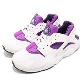 【六折特賣】Nike 武士鞋 Huarache Run GS 白 紫 跑鞋 運動鞋 女鞋 大童鞋【PUMP306】 654280-105