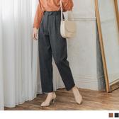 《BA4667》雙釦設計打褶西裝直筒褲 OrangeBear