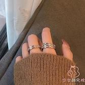 戒指鈦鋼材質歐美冷淡風輕奢食指戒指【少女顏究院】