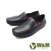 W&M(男)圓頭可踩腳莫卡辛 樂福鞋 開車鞋 男鞋 -黑(另有灰)