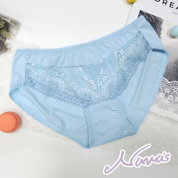 【露娜斯】花藏夢露 M-XL 舒適內褲【藍】台灣製P8886
