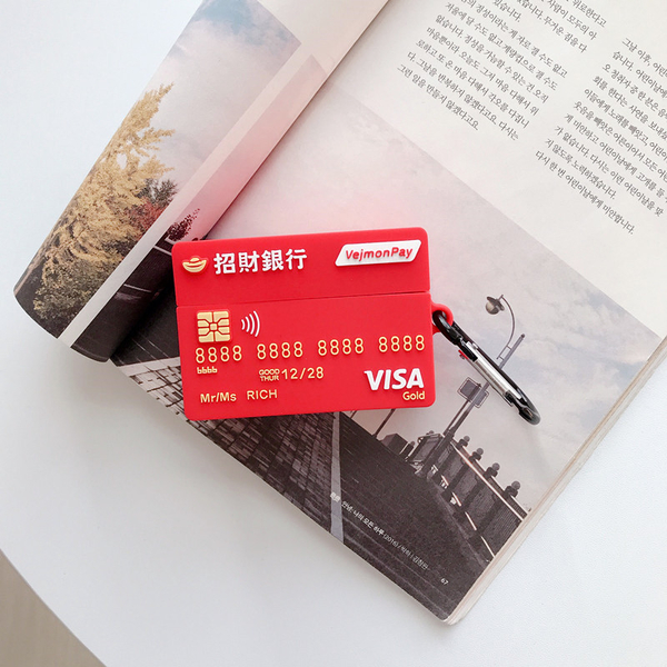 Airpods Pro 專用 台灣發貨 [ 招財銀行 ] 藍芽耳機保護套 蘋果無線耳機保護