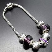 串珠手鍊-水晶飾品浪漫紫色生日情人節禮物女配件73bo34【時尚巴黎】