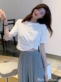 短袖T恤 夏裝2020新款短袖t恤女韓版百搭寬鬆設計感短款牛油果上衣抹茶綠 元旦狂歡購