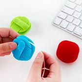 ✭米菈生活館✭【Y32】創意卡扣式繞線器 糖果色 集線器 理線器 耳機線 收納 辦公室 桌上 居家