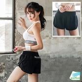 【BODYAIR】雙層文字翹臀顯瘦短褲(瑜珈.運動.慢跑)