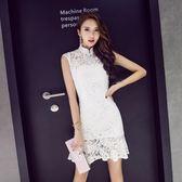 改良旗袍女夏版裙子旗袍裙氣質魚尾裙修身蕾絲連身裙 優樂居