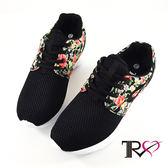 【TRS】韓國TRS空氣增高鞋內增高7公分休閒女鞋-碎花黑(7100-0049)