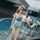 泳衣女連身保守三件套韓國溫泉小香風遮肚顯瘦聚攏性感游泳比基尼【快速出貨】