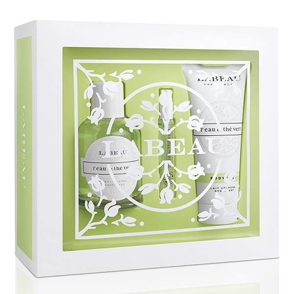 LABEAU 純淨花園綠茶淡香水禮盒(香水100ml+小香水7.5ml+身體乳100ml) Vivo薇朵