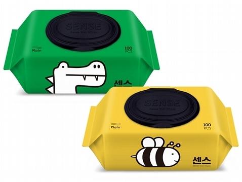 韓國 Sense 蜜蜂/鱷魚 濕紙巾(100抽) 款式可選【小三美日】