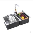 水槽加厚手工水槽雙槽304不銹鋼水槽廚房洗菜盆洗碗池套餐太上臺下盆 LX 【99免運】
