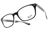 RayBan 光學眼鏡RB5375F 2034 (黑)  低調造型款 平光鏡框 # 金橘眼鏡