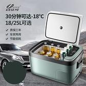 heseme車家兩用車載冰箱12v24v貨車壓縮機制冷汽車冷凍冷藏小冰柜 「雙10特惠」