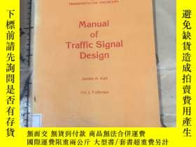 二手書博民逛書店Manual罕見of Traffic Signal Design