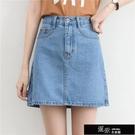 新款牛仔裙短裙半身裙a字裙女夏學生韓版高腰顯瘦包臀 道禾生活館