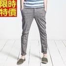 亞麻褲休閒長褲-典型歐美風修身舒適男褲子68b7【巴黎精品】