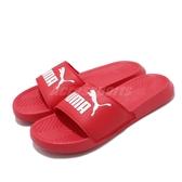 Puma 拖鞋 Popcat 紅 白 LOGO 運動拖鞋 涼鞋 基本款 男鞋 女鞋 【PUMP306】 36026545