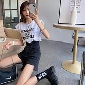 時尚t恤女2021夏季新款韓版港味墊肩露背字母衫設計休閒無袖上衣 【母親節特惠】
