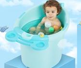 浴桶 寶寶洗澡桶兒童泡澡桶嬰兒洗澡盆浴桶大號可坐躺加厚超大家用   維多原創 免運