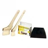 馬蹄刷(1 +3 )/砂布塊+ 刀