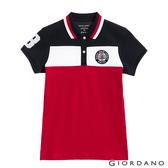 【GIORDANO】 女裝UNION JACK POLO衫- 15 藍/白/紅
