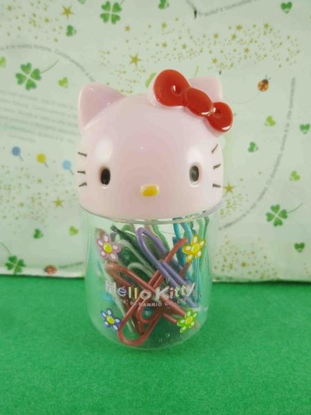【震撼精品百貨】Hello Kitty 凱蒂貓~迴紋針罐-粉色