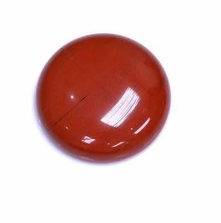 [協貿國際]天然紅玉髓圓形戒面DIY手工飾品配件(6入價)