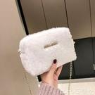 熱賣毛絨包 上新小包包女2021秋冬新款潮韓版百搭毛毛絨鍊條包可愛少女斜背包 coco