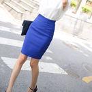 熱銷涼感窄裙夏季韓版包臀高腰中長裙後開叉半身裙百搭職業一步裙OL西裝裙 曼莎時尚
