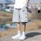 短褲 夏季排扣寬鬆運動休閒短褲 棉短褲【TJH2017】現貨+預購 Doppler