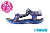 TEVA Hurricane 童涼鞋 潑漆藍 機能運動涼鞋 I6826#藍色◆OSOME奧森鞋業 零碼出清