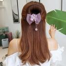盤髪器 丸子頭水鉆花朵盤髮器造型器韓國頭飾百變蓬松花苞頭懶人扎頭髮飾