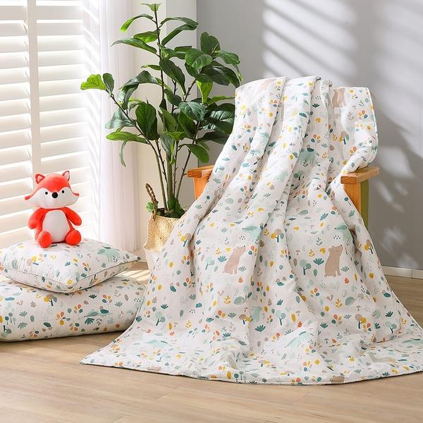 【贈隨機枕套1入】鴻宇 涼被 四季被 100%精梳純棉 森林裡散步 台灣製 2259