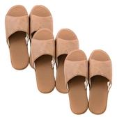(組)現代皮拖鞋 駝棕Lx2+XLx1