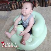 寶寶學座椅兒童充氣小沙發嬰兒學坐椅便攜式餐椅浴凳可折疊 全店88折特惠