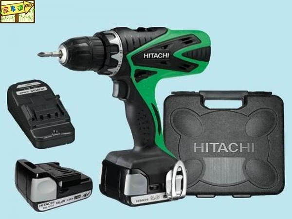 [ 家事達 ]HITACHI-DS14DSFL  日立 3分充電式起子電鑽機-14V   特價