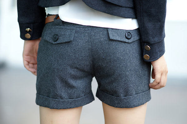 實拍熱賣!新款人氣淑女百搭休閑時尚修身 顯瘦短褲