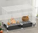 兔子籠 自動清糞兔籠子寵物用品兔子小屋養...