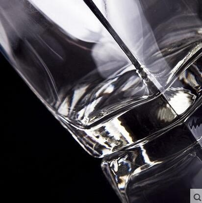 4/6只方形威士忌酒杯 無鉛水晶洋酒杯烈酒杯 啤酒杯套裝