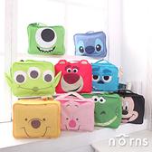 【旅行行李收納包】Norns 迪士尼 大臉造型 衣物收納袋 出國旅行袋 維尼小豬 史迪奇三眼怪