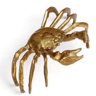 純銅螃蟹擺件