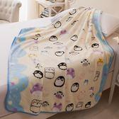 單層薄款珊瑚絨嬰兒毛毯 新生兒小毯子 兒童蓋毯寶寶蓋肚子小被子『韓女王』