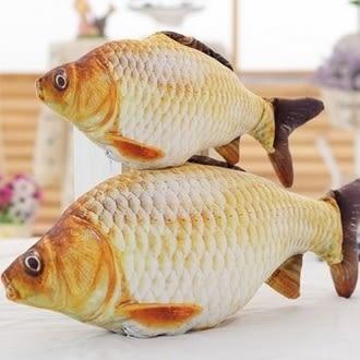 ♥賀年新款♥【105122194】大款鯉魚躍龍門 毛絨玩具抱枕仿真印花玩偶公司禮品(95公分)