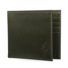 POLO RALPH LAUREN經典壓印馬球LOGO素面皮革短夾(墨綠色)780215-5