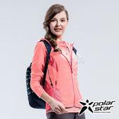 PolarStar 女 休閒抗UV連帽外套『淺粉紅』P18108 休閒 露營 防曬 透氣 吸濕 排汗 彈性 抗紫外線