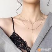 性感雙層項鍊女長鎖骨鍊頸鍊胸鍊多層choker身體鍊簡約氣質潮網紅 歐亞時尚